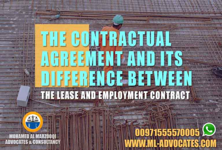 Contractual Agreement difference Lease Employment Contract